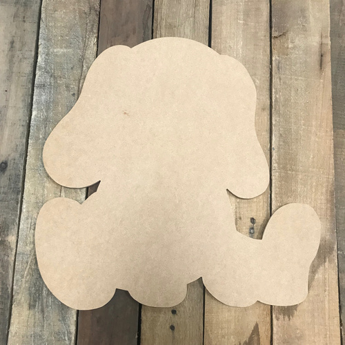 Puppy Dog, Unfinished Cutout, Craft Wood Shape