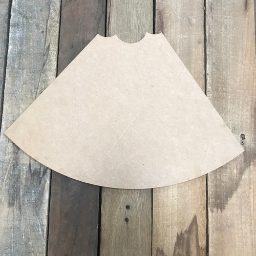 Slice of Bitten Watermelon, Unfinished Cutout, Craft Wood Shape