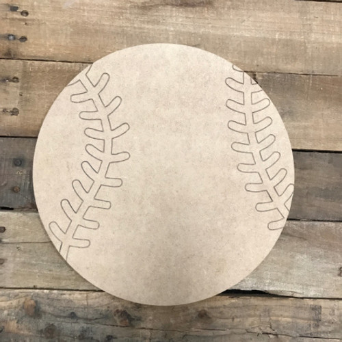 Baseball, Unfinished Wooden Cutout Craft, Paint by Line