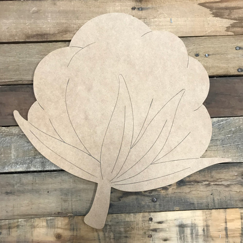 Cotton, Unfinished Wooden Cutout Craft, Paint by Line