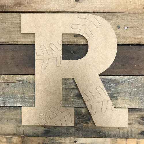 Wood Rockwell Baseball or Softball Letters, Unfinished Paint by Line
