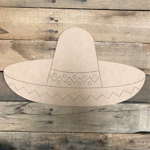 Sombrero, Unfinished Craft, Paint by Line