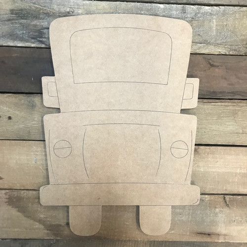 New Truck Cutout, Unfinished Shape, Paint by Line