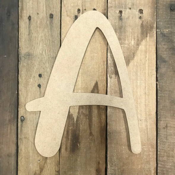 Wooden Letters Unfinished MDF-A