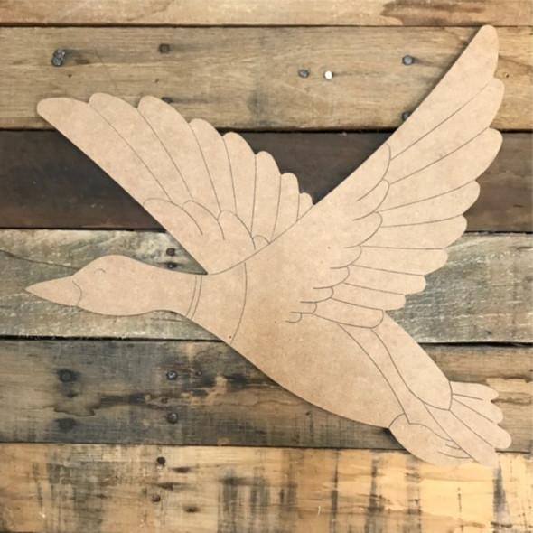 Mallard Duck Cutout, Shape, Paint by Line