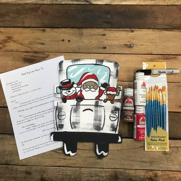 Christmas Truck with Frosty, Paint Kit, Video Tutorial and Instructions