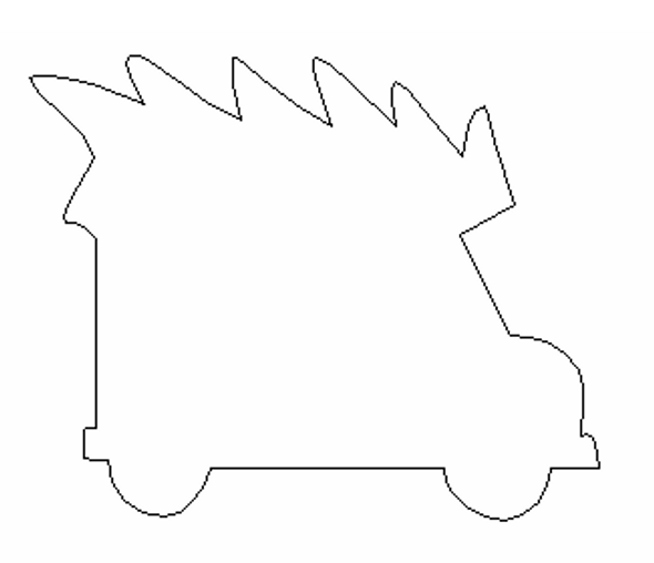 Truck with Pine Tree, Paintable Shape, Unfinished Cutout, Craft Wood