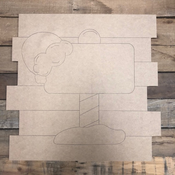 Christmas Sign Shiplap, Wood Cutout, Shape, Paint by Line