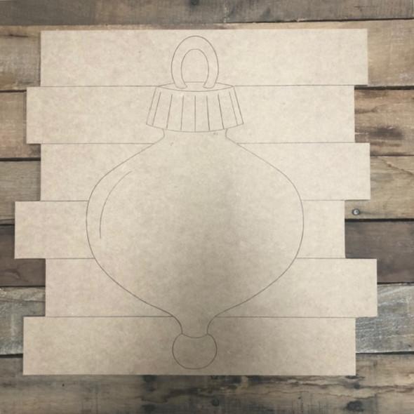 Ornament Shiplap, Wood Cutout, Shape, Paint by Line