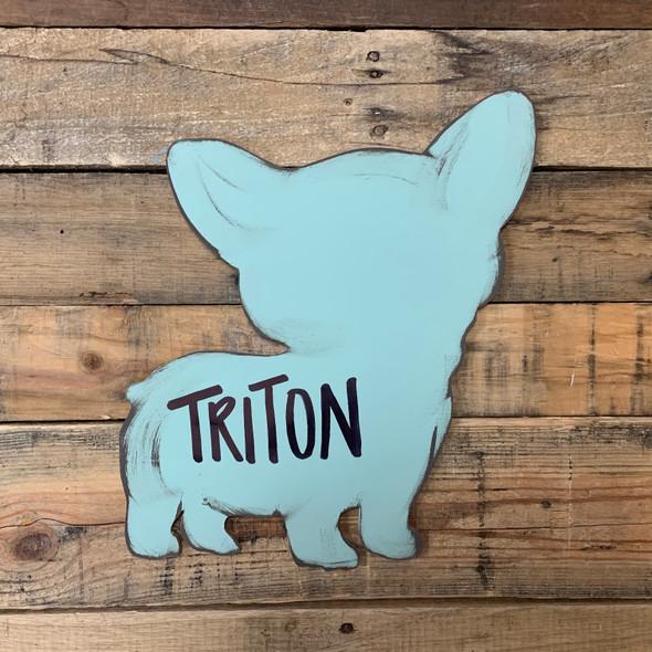 Corgi Dog, Paintable Shape, Unfinished Cutout, Craft Wood