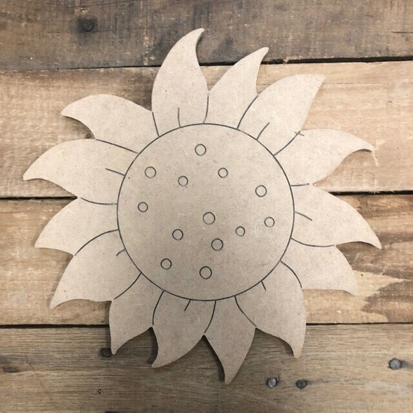 HOME Seasonal Set Wood Cutout-flower