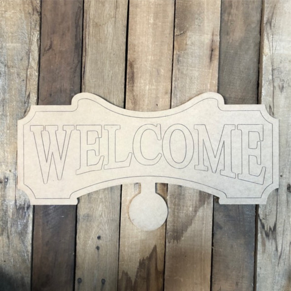 Welcome Seasonal Set Wood Cutout, Unfinished Shape, Paint by Line