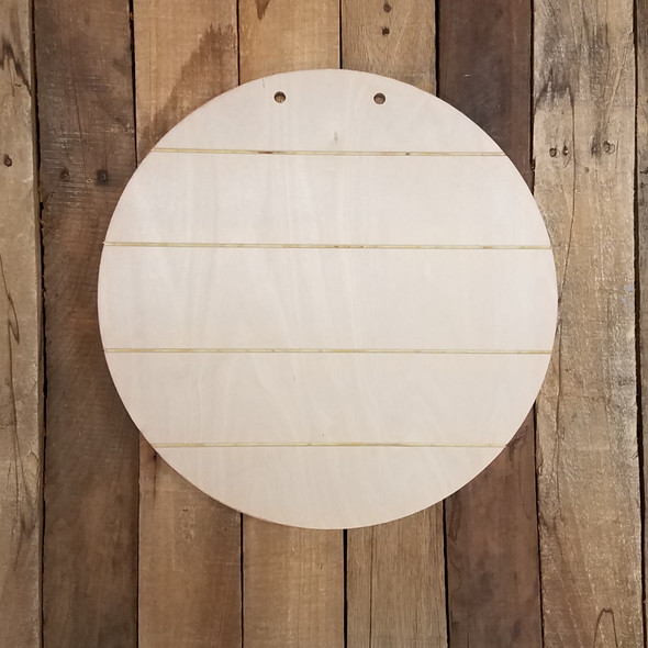 Circle Shiplap Pine Cutout, Circle, Unfinished Wood Shape