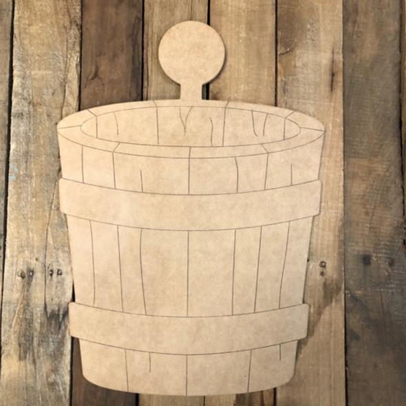 Barrel for 18'' Seasonal Kit Wood Cutout, Shape, Paint by Line