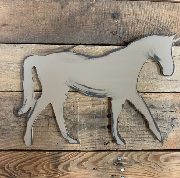 New Horse Wooden Shape, Paintable Wooden MDF