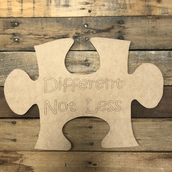Different For Less Puzzle Cutout, Unfinished Wall Decor Paint by Line
