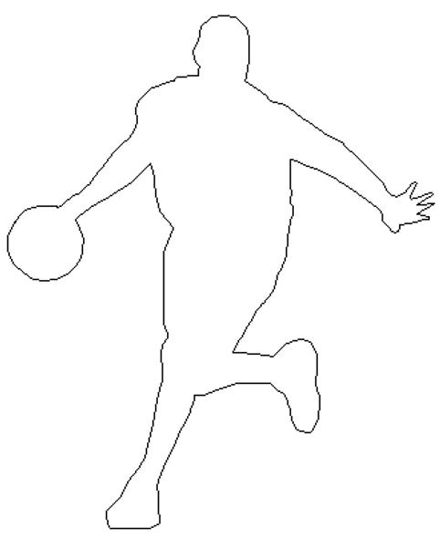 Basketball Dribbler Wooden Shape, Paintable Wooden MDF