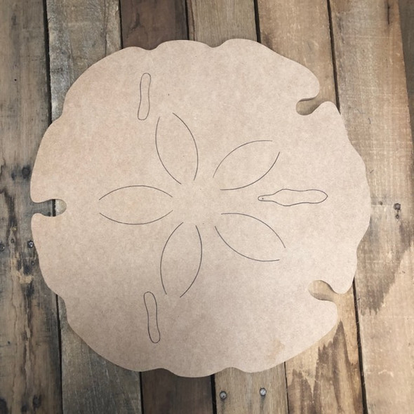 Sand dollar  Cutout, Unfinished Wall Decor Paint by Line