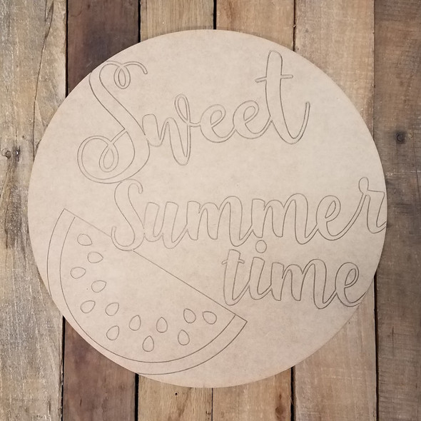 Sweet Summer Time Watermelon Plaque, Paint By Line Art Shape