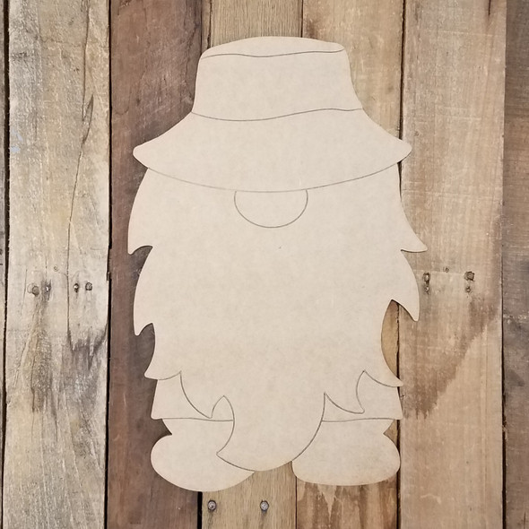 Summer Gnome Set Wood Cutout, Unfinished Shape, Paint by Line Kit