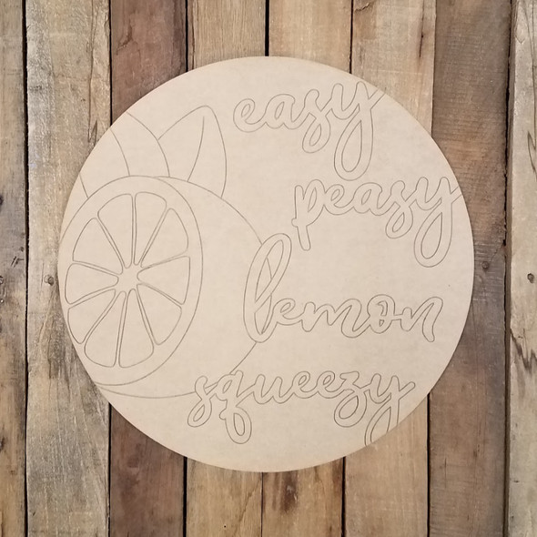 Easy Peasy Lemon Squeezy Circle Craft, Wood Shape Paint by Line