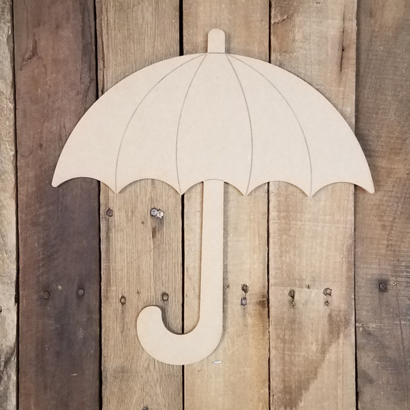 Umbrella Craft Cutout, Unfinished Wooden Craft, Paint by Line