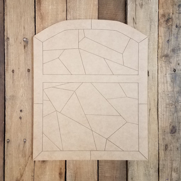 Stained Glass Window Panel Wood DIY Decor Shape, Paint by Line