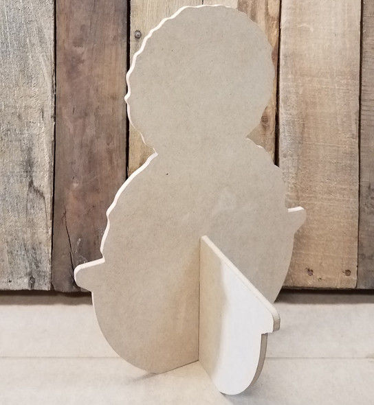 Double Topiary Free Standing Flower Pot, Unfinished Wood Cutout