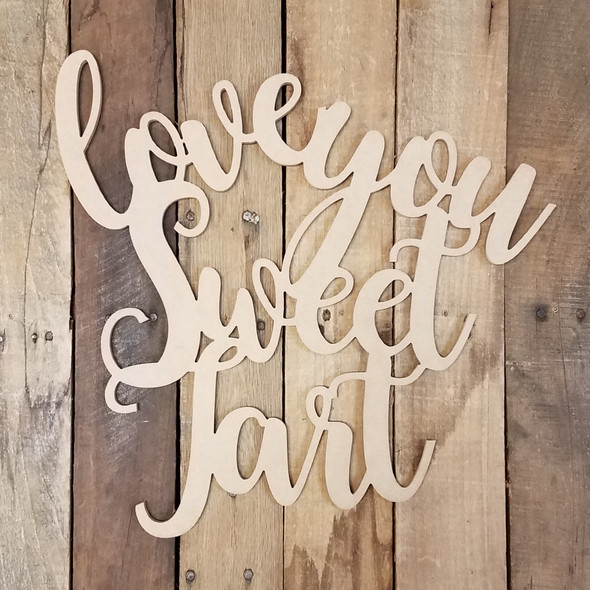 Love You Sweet Tart King Basil Connected Unfinished Word