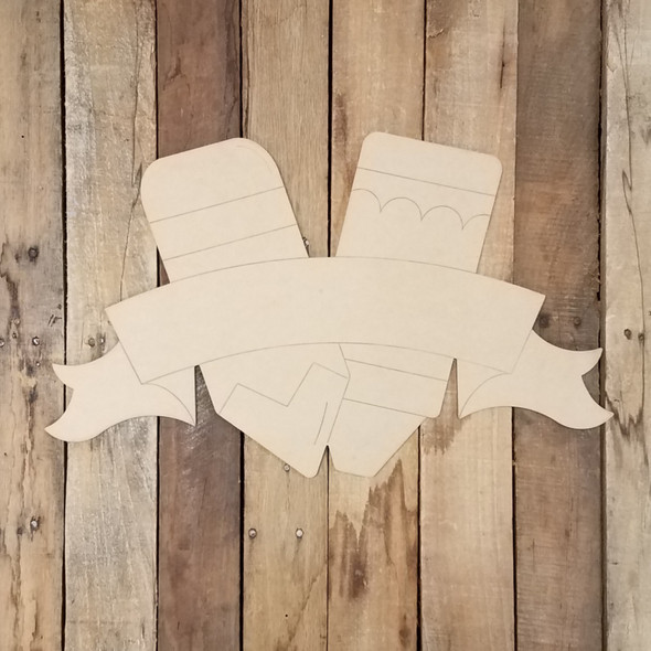 Pencil Back to School Banner Cutout, Wood Shape, Paint by Line