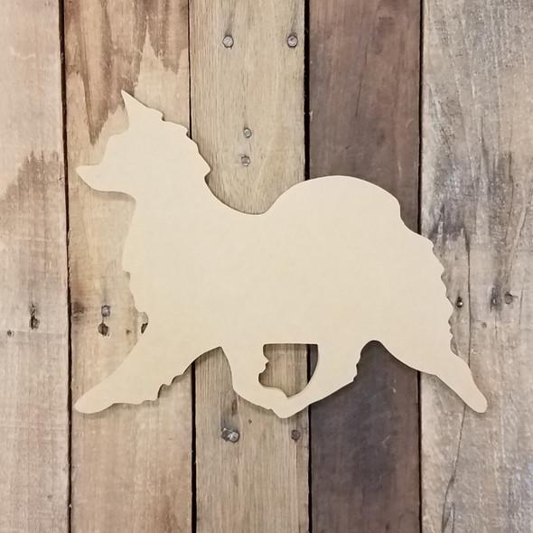 Papillon Breed Dog Unfinished Wood Craft Shape