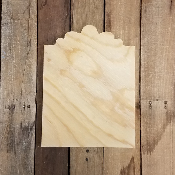 Pine Unfinished Wooden Ella Plaque Paintable Craft Shape