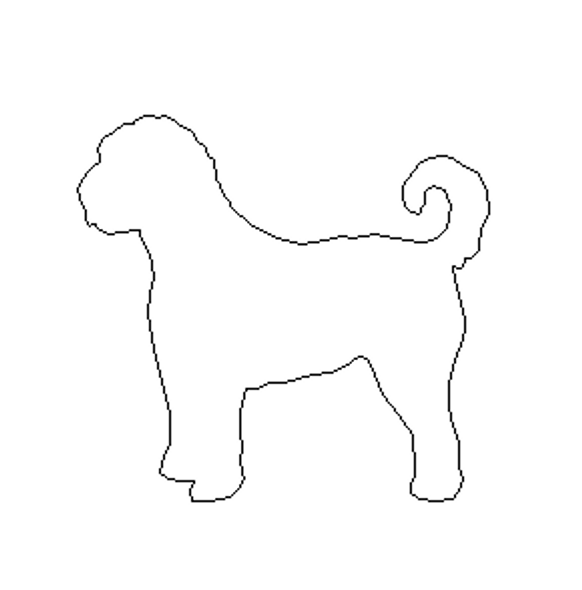 Golden Doodle Breed Dog Unfinished Wood Craft Shape