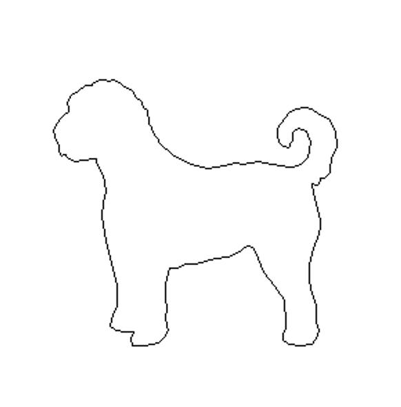 Golden Doodle Breed Dog Unfinished Wood Craft Shape