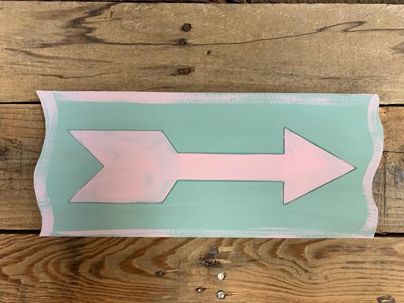 Decorative Arrow Plank A, Wood Cutout, Shape, Paint by Line