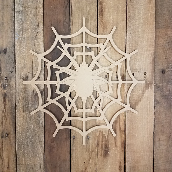 Spider Web with Spider, Unfinished Paint by Line Shape