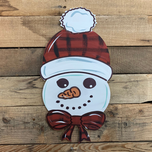 Snowman Head With Hat Cutout, Unfinished Shape, Paint by Line