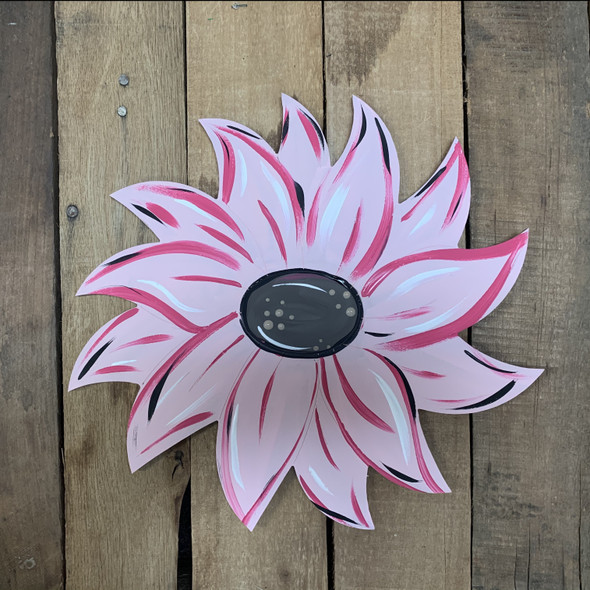 Poinsettia Holiday Flower Unfinished Craft Shape, Paint by Line