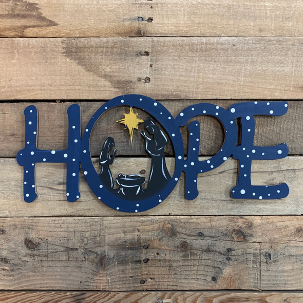 Hope Word Nativity Scene Wood Cutout, Unfinished  DIY Craft