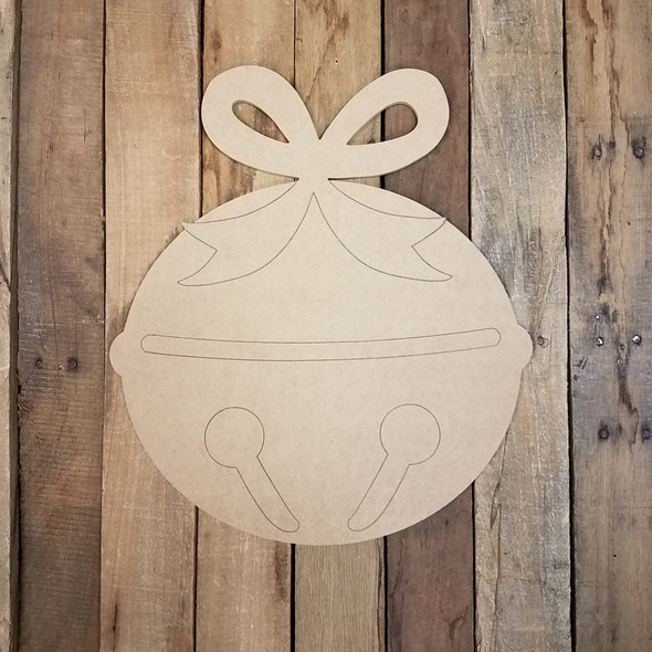 Jingle Bell with Ribbon Cutout, Shape, Paint by Line