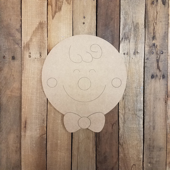 Gingerbread Man Face, Unfinished Wooden Craft, Paint by Line