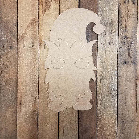 Elf Gnome With Hat Wood Cutout, Paint by Line