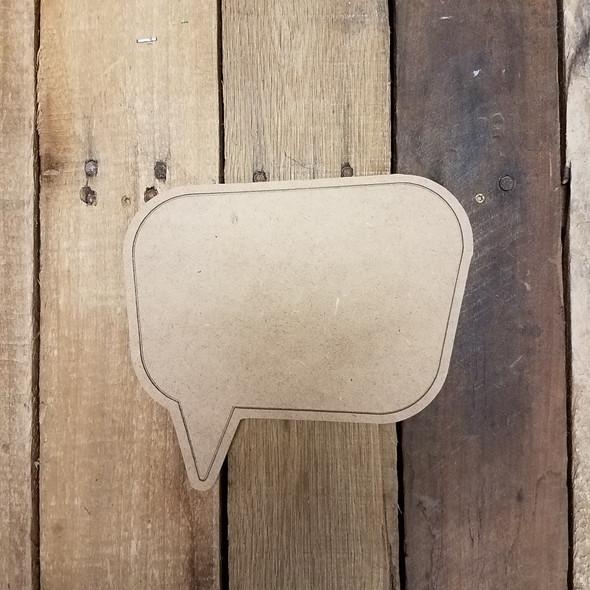 Blank Comic Book Speech bubble, Paint by Line Wooden Shape