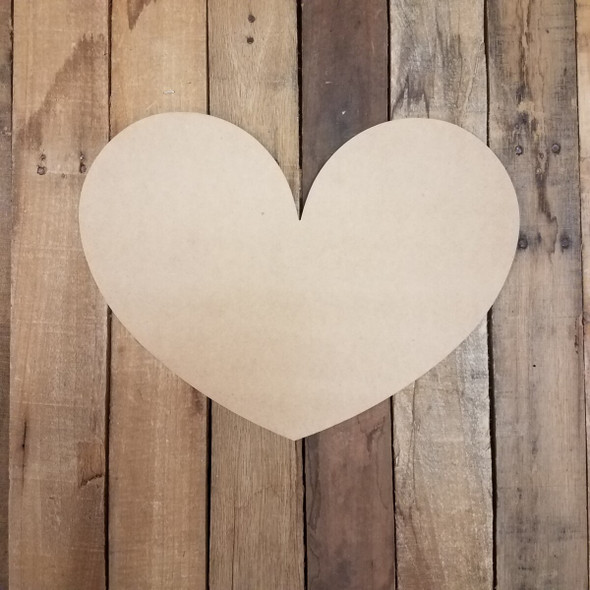 Valentine Fat Heart Unfinished Cutout