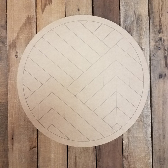 Geometric Art Twin Mountain Circle