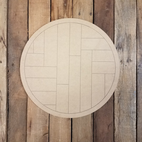 Geometric Art Pattern Circle-Unfinished Wood Shape