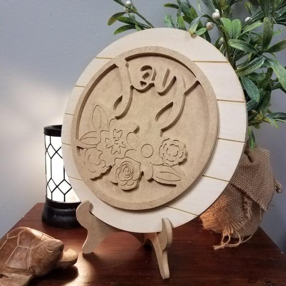 Joy Stackable Circle Easel Kit, Engraved DIY Craft Decor Set