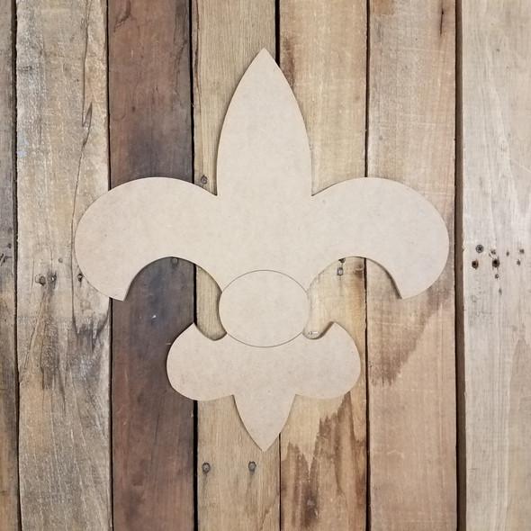Simple Fleur De Lis, Wood Cutout, Shape, Paint by Line WS