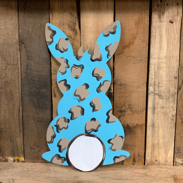 Standing Bunny With Cotton Tail, Unfinished Wood Shape, Paint by Line