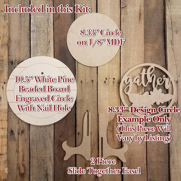 Groom Wedding Stackable Circle Easel Kit, Engraved DIY Craft Decor Set